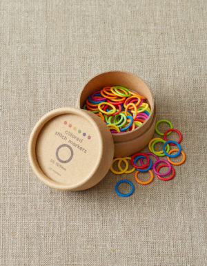 Coco Knits colored ring stitch markers